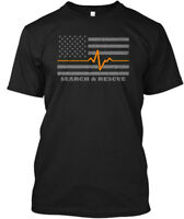 Thin Orange Line Search And Rescue Flag - & Hanes Tagless Tee T-Shirt