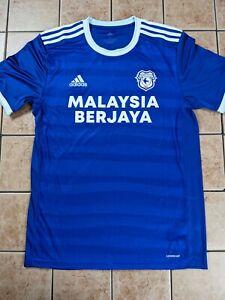 Cardiff City FC 20/21 Home Replica Blank Jersey Adidas Men's Blue NWT sz M