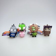 Invader Zim Set Of 4 Mini Figurine Keychains - Gir, Dib, Zim and Gaz - New