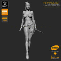 1/24 Anime a female death Resin Soldier Unassembled 75mm model