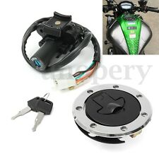 Ignition Switch+Gas Cap Cover Lock+Key Set For Kawasaki ZX7R ZX9R ZXR750 ZX900