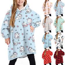 Kid Children Blanket Print Sweatshirt Soft Oversized Plush Blanket Hoodie Winter