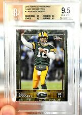 BGS 9.5 Gem Mint AARON RODGERS 2015 Topps Chrome Mini CAMO Prizm /99 Packers SSP