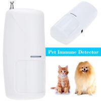 NEW 433 MHz Wireless 10KG Pet Immune Motion PIR Detector Sensor Home Security US