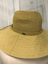 7514fba7baf018 Scala Collezione Women's Hat Khaki Wide Brim Hat O/S Fits Most NWOT