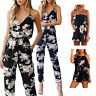 Ladies Summer Sleeveless Bodysuit Casual Cotton Jumpsuit Rompers Party Clubwear
