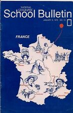 national geographic-SCHOOL BULLETIN-jan 6,1975-FRANCE.