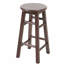 Dark Brown Wooden Timber Bar stool Kitchen Chair Dining 30cm x 30cm x 61cmheight