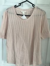 *NEW* Ladies Orange stretch pointelle top from H&M. UK Size L (12-14)