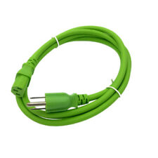 Green 6FT Universal 3Prong AC Power Cord Cable 18AWG Computer Printer Monitor TV
