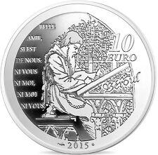 FRANCE 10 Euro Argent BE 2015 Littérature Tristan et Yseult - Silver coin