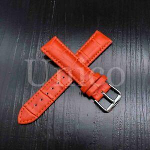 12 - 22 MM Watch Band Strap Genuine Leather Iwatch Alligator Wrist USA Buckle