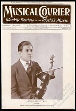 1924 Abraham Sopkin photo with violin Musical Courier framing cover