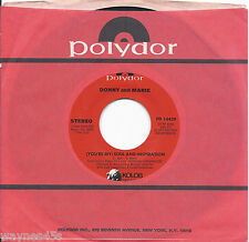DONNY AND MARIE OSMOND * 45 * You're My Soul And Inspiration 1977 * NM ORIGINAL