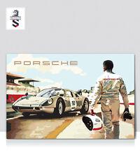Le Mans Classic 1964 Porsche 904 GTS. Print Aluminum poster 24x18