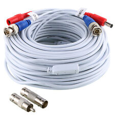 Sannce 1x100ft Dc Power Video Cable Connect Wire for Security Camera Cord White