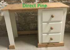 SHAFTESBURY 3 DRAWER DRESSING TABLE CREAM/ANTIQUE PINE TRIMS NO FLAT PACKS
