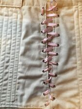 18th century Colonial  corset steel boned osnaburg and muslin