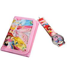 Cartoon Watches Cute Snow White Princess Quartz Watch With Purse Pink For Kids H