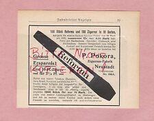 NEUSTADT, Werbung 1908, P. Pokora Reforma Zigarren-Fabrik