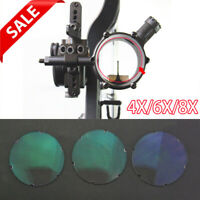 Compound Bow Sight Lens 4x 6x 8x Magnifying Glass Archery Clarifiers 4.5cm*2mm