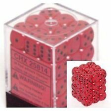 Chessex Opaque 12mm (small) dice set red with black pips 36 pieces die set