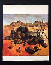 "1966 Vintage Australia Full Color Art Plate ""CENTRAL AUSTRALIA"" McIntyre Litho"