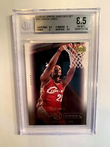2003 Upper Deck Lebron James Rookie BGS 8.5 Box Set #15 GOAT Lakers RC