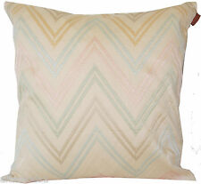 MISSONI HOME 100% COTTON SATEEN EMBROIDERED CUSHION PILLOW COVER JAYLIN 213