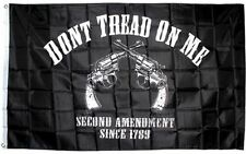 3x5 2nd Amendment Two Pistols Black Flag Gun Rights Owner 3'x5' Banner Grommets
