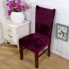 UK Stretch Fox Pile Fabric Dining Room Wedding Kitchen Home Chair Seat Covers