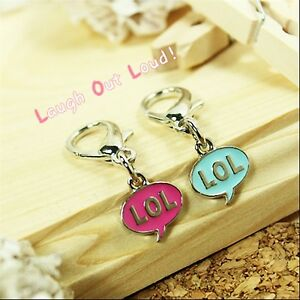 Dog/Cat Luxury Cute Collar Charm- LOL Laugh Out Loud Blue&Pink Pet/Animal Collar