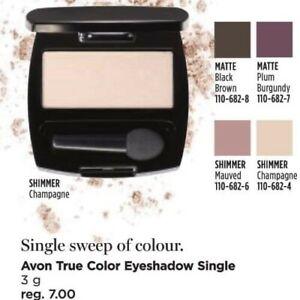 Avon True Color Eyeshadow Single CHAMPAGNE pale gold frost NEW NIB