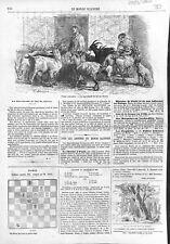 Parisiens la marchande de lait de chèvre à Paris Chien Berger 1866 ILLUSTRATION