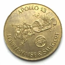 France 'Apollo 13: Flight And Space Flight' 1970 Brass Plated Steel Shell Token