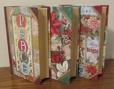 "Set of 3 Small PUNCH STUDIO Christmas Gift Book Boxes - 6.5"" x 4.5"" x 1.5"""
