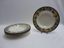 Mikasa Intaglio CAC29 Garden Harvest Rimmed Soup/Cereal/Pasta Bowls Set of 4 GC