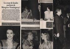 Coupure de presse Clipping 1982 Margaux Hemingway  (2 pages)