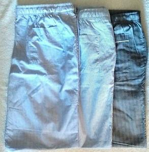 3 Pairs Men's Designer Lounge / Sleep Pants - XL - Nautica, J Crew