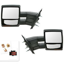 FIT 2007-14 Ford F150 Pickup Towing Power Heated Tow Mirrors Set Signal puddle