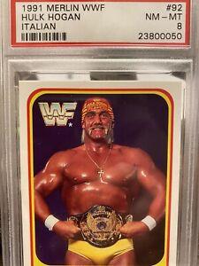 Hulk Hogan 1991 WWF Italian #92 PSA 8 NM-MT MINT Wrestling WWE