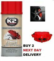 K2 BRAKE CALIPER PAINT RED HIGH GLOSS Heat 260°C Resistant Spray Lacquer 400 mL