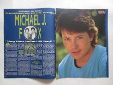 Michael J Fox James Woods Foreigner Mick Jones Samantha Fox clippings Sweden