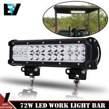 EZGO TXT Golf Cart Light Kit Black Front 12'' LED Light Bar Combo Fog Driving