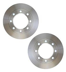 Pair Set of 2 Front C-Tek Brake Disc Rotors For Dodge W300 75-80 W350 81-89 SRW