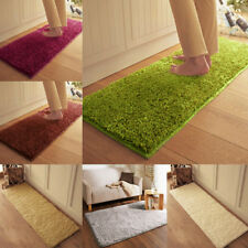 Soft Fluffy Anti-Skid Floor Rug Shaggy Area Dining Room Bedroom Carpet Floor Mat
