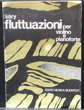Partition / Score Laszlo Sary Fluttuazioni  1971 Musica Budapest