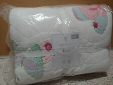 Pottery Barn Kids Gigi Butterfly Twin Quilt only multi colors Nwt