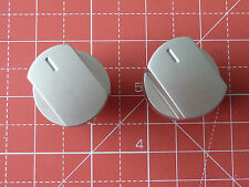2 x Silver Knobs for Stoves Ovens & Hobs