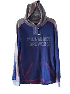 NWT Fanatics Milwaukee Brewers Hoodie Sweatshirt MLB Licenced Men's Small